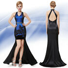 Sexy Open Back Dress Trailing Pencil High Low Party Cocktail Evening Dress 09951