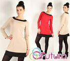 ☼ Sexy Women's Mini Dress with Zipper ☼ Crew Neck Tunic Style Sizes 8 -14 FA234