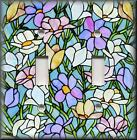 Light Switch Plate Cover - Stained Glass Floral Pattern 01 - Home Decor Flowers