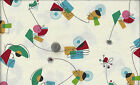 Atomic I Spy Retro Mid Century Modern Fabric By the Fat Quarter Out of Print