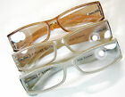 3/20 UNISEX Rockin Unisex Reading Glasses Silver Copper Light Gold Spring Temple