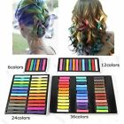 Easy Temporary Colors Nontoxic Hair Chalk Dye Soft Hair Pastels Kit 6 12 24 36