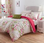 Catherine Lansfield Canterbury Bed Set in Single Double & King Size Multi or Red