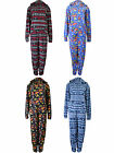 Mens Onsie Adult All In One Jumpsuit Zip Hooded Unisex Onezee New Size S/M M/L