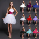 UK09 Short Evening Bridesmaid Dress Prom Dress Formal Party Ball Gowns 36-44
