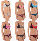 Gorgeous Women Multiway Molded Tulle Padded Push Up Bra Set Thong Tanga Knickers