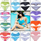 New Women Tassel Padded Bikini Set Bandeau Fringe Boho Swimsuit Set Swimwear Set