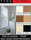 "EXCEL WOOD with cords VENETIAN BLINDS - 35mm (1.5"") Slat - made to measure"