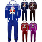 Mens Womens Unisex Aztec Xmas Santa Penguin Christmas Onesie All In One Jumpsuit