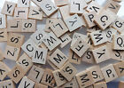 Scrabble Tiles individual letters replacement or crafts wood wooden used