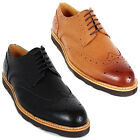 New Mooda Leather Wing Tip Casual Oxford Dress Mens Comfort Shoes