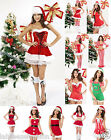 New Ladies Womens Miss Sexy Santa Red White Christmas Xmas Costume Outfit Dress