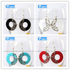 Fashion Pretty 28mm ring beads Marcasite silver dangle earrings 1 pair G-Beads