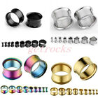 Gauge Steel Double Flare Fresh Tunnel Ear Expander Stretcher Earlets Piercing