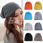 Unisex Cotton Baggy Beanie Oversize Winter Ski Slouchy Sport Hat Cap Skull Solid