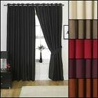 SUZY FAUX SUEDE PAIR RING TOP EYELET CURTAINS PLAIN DYE FULLY LINED