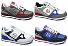 Sergio Tacchini VINCI Mens Faux Leather Lace-Up Casual Padded Trainers Shoes New