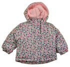 Faded Glory Infant Girls Heart Print 3 In 1 Outerwear Coat Size 12M 18M 24M