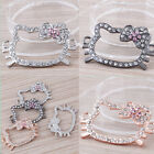 Wholesale Hello Kitty Crystal Rhinestone Bracelets Connector Charms Findings