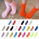 1 Pairs Casual Cotton Blend Fluorescent Natural Curling Candy Color Sock Hosiery