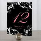 Personalized Classic Orchid Wedding Table Numbers