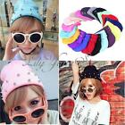 Winter Beanie Hats Cone Spikes Studded Punk Rivet Warm Knitted Candy Color Caps