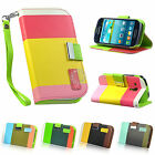 Flip Wallet Leather Case Cover For Samsung Galaxy S3 MINI I8190 With ScreenGuard