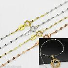 Charming 17.7 INCH 18K Gold Necklace / Special chain  (4 metals)