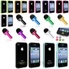 Color Bumper TPU Silicone Rubber Cover Case+Dust Cap Pen+Sticker For iPhone 4 4S