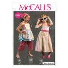 McCall's 6731 Easy Sewing Pattern to MAKE Girls Top Dress Trousers & Scarf