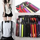 Unisex Adult Child Elastic Brace Suspender Y Back Neon Adjustable Clip-on Belt