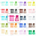 20/40/60/100Pcs Strong Fashion Rectangle Gift Bag Wedding Jewelry Pouch Organza
