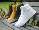 Mens Ankle Boots Casual patent leather lace up round toe high top sneakers shoes