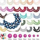 3/4/6/8/10/12/14mm Plexiglass Pearl Round DIY Spacer Loose Beads 31 Color Choose
