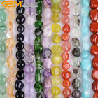 "4x6-6x8mm freeform potato jewelry making gemstone beads strand 15"" 48 materials"