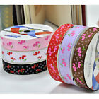 """5/50/100 yards 3/8""""-1.5"""" heart cherry sewing grosgrain ribbon bow scrapbooking"""