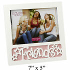 "Glitter Picture Photo Frame Dad Love Family Friends 7x5"" NEW"