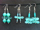 Handmade Blue/Green Drop Dangle Earrings