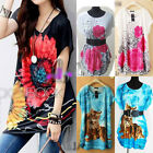 BOHO Women's Tunic Kaftan Loose Long Top/Beach Bikini Cover Up/Mini Dress T094