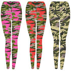 Girls Camo Print Leggings Kids Fashion Legging Full Length New Age 4 - 12 Years