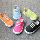 New Cute Baby Kids Toddlers Infants Candy Color Canvas Trainer Sneakers 1-4 Year