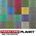 Paracord Planet 550 Type III 7 Strand Commercial Parachute Cord 10' 25' 50' 100'