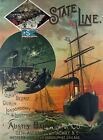 TS2 Vintage Shipping State Line To Ireland Liverpool Ship Poster A1/A2/A3/A4