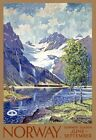 TT43 Vintage Norway Norwegian Summer Travel Poster Re-Print A3/A4