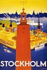 TW98 Vintage Stockholm Sweden Swedish Travel Poster Re-Print A1/A2/A3/A4