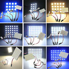 9/12/15/20/24/36/48LED Panel 5050/3528SMD Light Dome Lamp Bulb +T10 Festoon BA9S