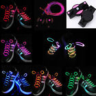 Colors LED Flash Luminous Light Up Glow Shoelaces Shoe Laces DISCO Party Skating