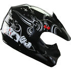 Motocross Dirt Bike ATV Off Road racing Helmet DOT 188 black
