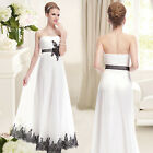 Ever Pretty Elegant Lace White Long Formal Evening Prom Dress 08039 Size 06-12