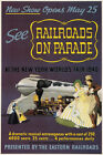 TX110 Vintage New York Fair Eastern Railroads Railway Travel Poster A2/A3/A4